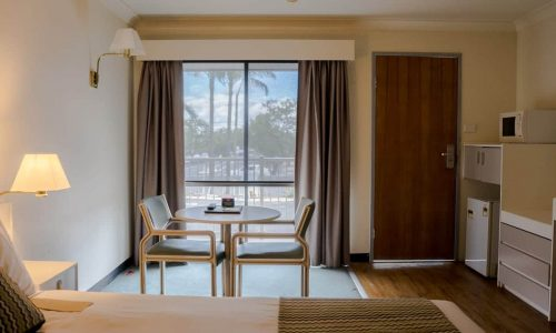 standard queen with 2 bedroom ensuite table and view